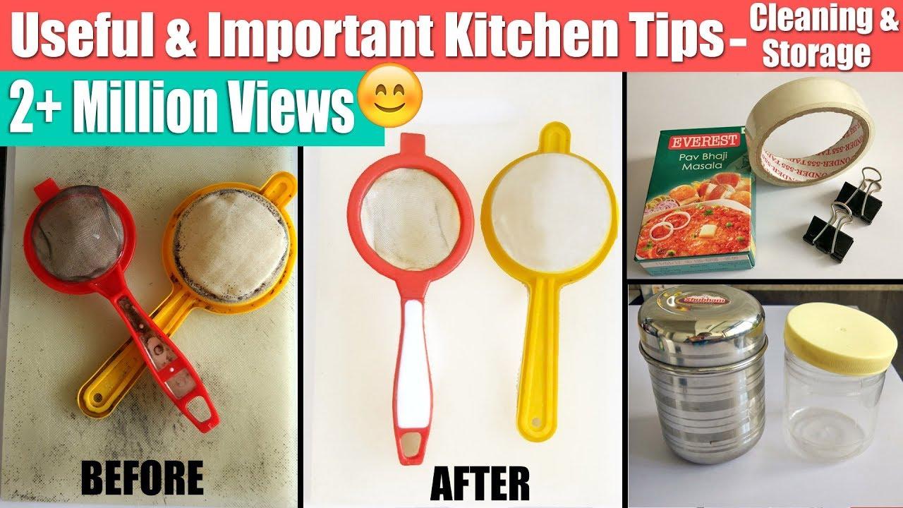 Awesome 6 Useful U0026 Important Kitchen Tips In Hindi | Tried U0026 Tested Kitchen Tricks  | उपयोगी/जरूरी किचन टिप्स