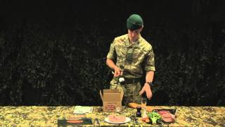 Royal Marines Reserves: ration pack demonstration