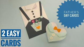Easy cards for Father's day/Father's day crafts/Father's day card tutorial/Gifts for father's day ❤