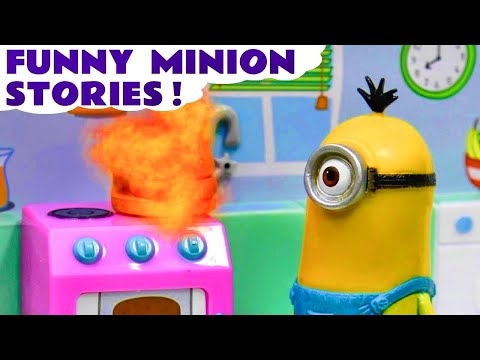 Minions Funny Mini Movies & Stop Motion Play Doh Ice Cream Game Surprise 1 Hour Compilation