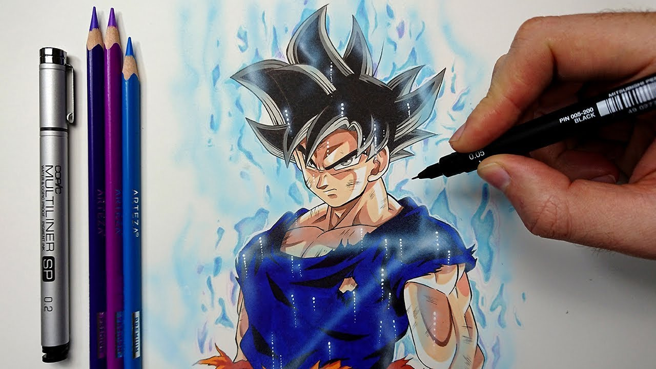 How to draw ultra instinct goku tutorial youtube - Goku ultra instinct sketch ...