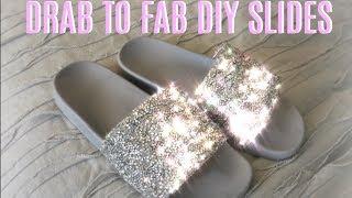 DIY: DIAMOND SLIDES - Drab to Fab!!! | Brooklyn Anne
