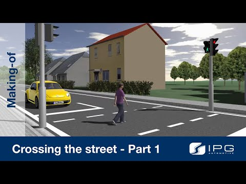 Making-of: CarMaker – Crossing the street – Part 1/2