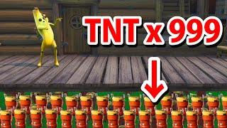 床に大量のTNTがあるドッキリ【フォートナイト】