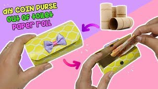 HOW TO MAKE COIN PURSE OUT OF TOILET PAPER ROLL | DIY WALLET COIN PURSE OUT OF TOILET PAPER ROLL