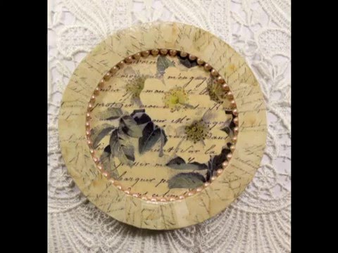 DIY how to make vintage and old looking paper fabric lace