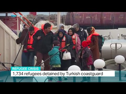 1,734 refugees and 16 people smugglers detained by Turkish coastguard