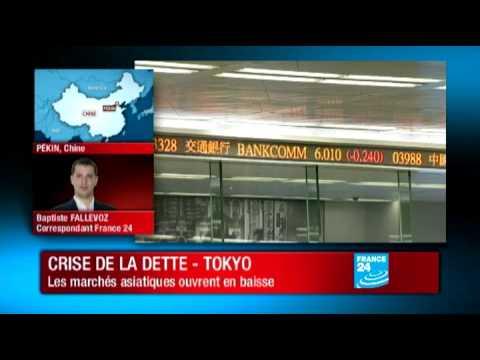 Economie : Les Bourses asiatiques en baisse malgré la mobilisation générale