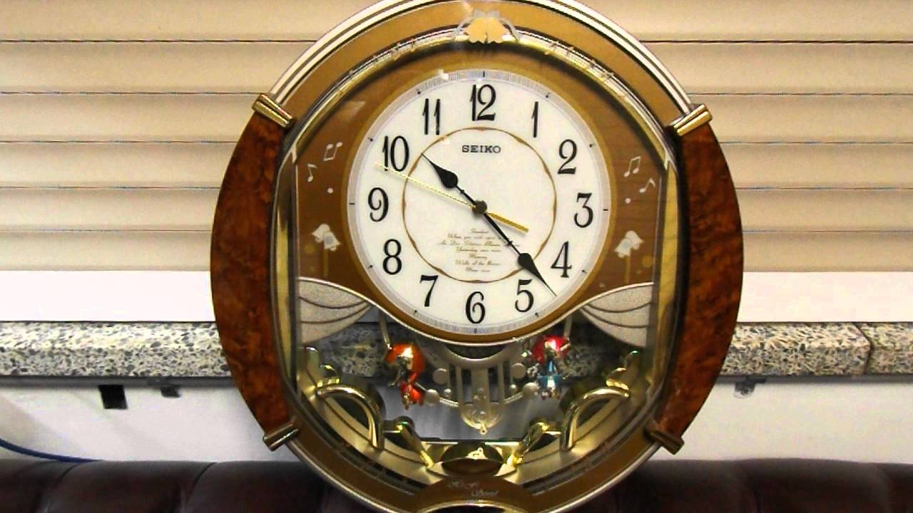 Seiko wall clocks melodies in motion gallery home wall seiko melodies in motion wall clock qxm118br youtube amipublicfo gallery amipublicfo Images