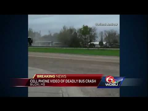 New cellphone video of deadly train-bus crash in Biloxi