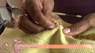 Saiba como fazer um lindo pano de copa com bordado eslavo