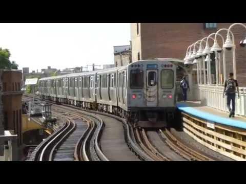 "CTA Transit: 1981 Budd Company 2600 Series ""L"" Blue Line Train at Damen Station (O"