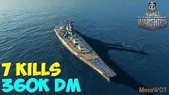 World of WarShips | Yamato | 7 KILLS | 360K Damage - Replay Gameplay 1080p 60 fps