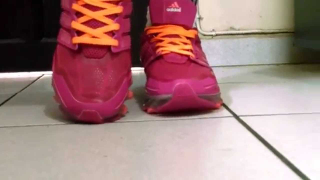 tenis adidas springblade rosa e cinza