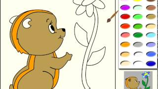 Jeux de coloriage Chipmunk pour les petits enfants