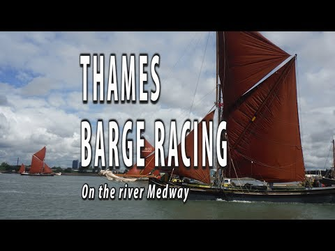 THE SECOND LONGEST RUNNING YACHT RACE IN THE WORLD. Thames barges racing on the Medway