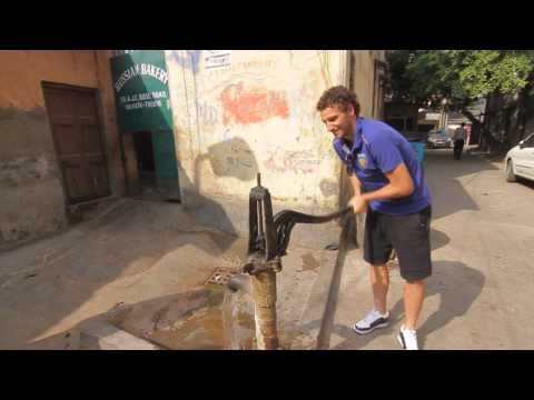 Elano Blumer Uses Hand Pump