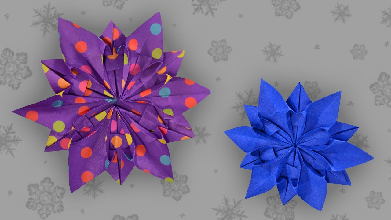 origami schneeflocke snowflake faltanleitung live. Black Bedroom Furniture Sets. Home Design Ideas