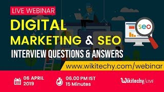 Top 25 Digital Marketing & SEO Interview Questions and Answers