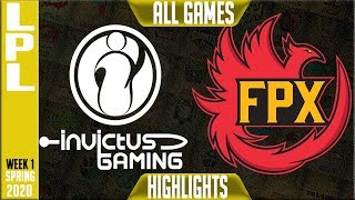 IG vs FPX Highlights ALL GAMES | LPL Spring 2020 W1D1 | Invictus Gaming vs FunPlus Phoenix