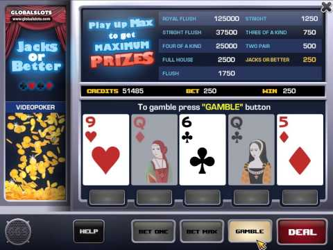 Classic Video Poker Gameplay Video GlobalSlots Casino