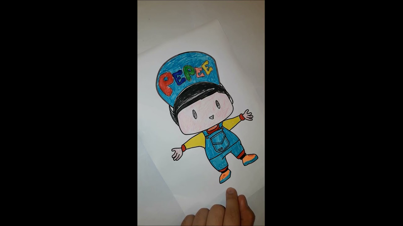 Pepee Boyama Painting The Turkish Cartoon Character Pepee Youtube