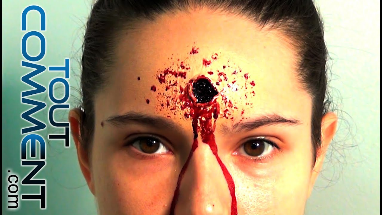 Fausse blessure par balle tuto make up maquillage halloween youtube - Maquillage halloween latex ...