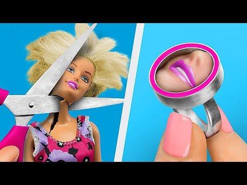 13 лайфхаков для куклы Барби и старых игрушек - Лучшие видео поздравления в ютубе (в высоком качестве)!
