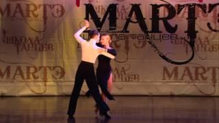 Спортивные бальные танцы, Хореограф Артем Новиков, школа танцев МАРТЭ