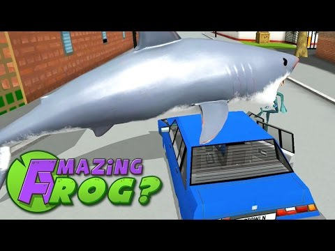 Amazing Frog - SHARKS VS POLICE - Part 37