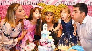 LAURINHA EM SUA FESTA DE ANIVERSÁRIO DE 6 ANOS COMPLETO 🎂 6 th HAPPY BIRTHDAY LAURINHA E HELENA !