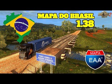 ETS 2 | NOVO MAPA BRASILEIRO EAA 1.38 COMPLETO 2020 - DOWNLOAD GRÁTIS!!!