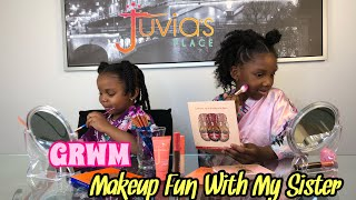 GRWM Makeup Fun With My Sister | Juvia's Place Review