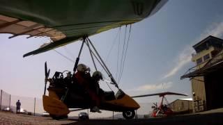 Cheryl Lloyd first flight on a microlight.