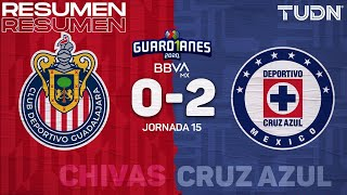 Resumen y goles | Chivas 0-2 Cruz Azul | Guard1anes 2020 Liga BBVA MX - J15 | TUDN