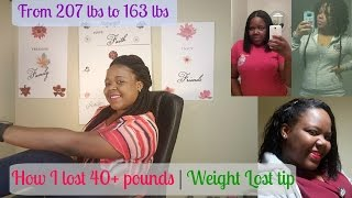 How I lost 40+ lbs / Weight Loss tips|🎗😍😘💜