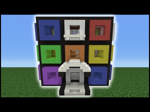 Minecraft Tutorial: How To Make A Rubiks Cube House