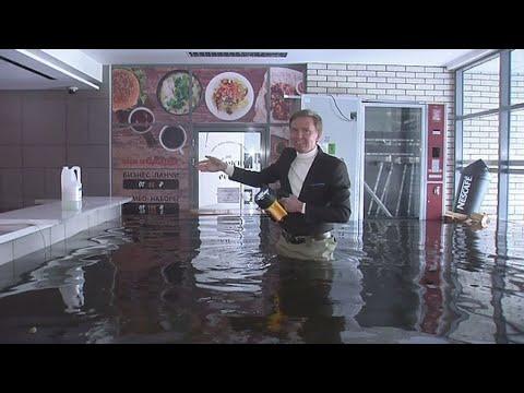Предприниматели терпят многомиллионные убытки из-за потопа в Мурманске