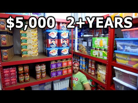 $5,000 Food Storage 2 Years Supply PREPPERS PANTRY Survivalist Drinking Water Freeze Dried Ready EAT