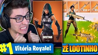 I BOUGHT THE LEGENDARY DESTINY SKIN AND MET A LITTLE JOE LOOTINHO! Fortnite: Battle Royale