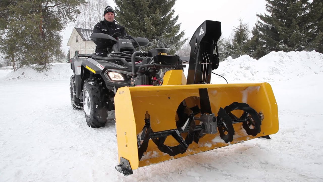 Brp Winter Pro Snow Blower Youtube