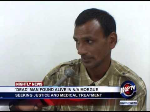 DEAD MAN FOUND ALIVE IN NA MORGUE