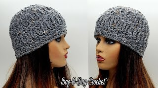 How To Crochet A Hat - Super Textured Beanie - Bag O Day Crochet Tutorial #582