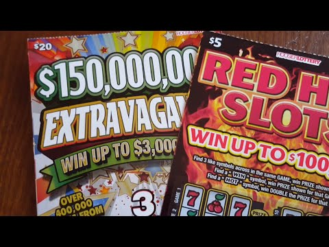 $20 Extravaganza Ticket & Red Hot Slot Ticket Indiana Lottery Scratch Offs