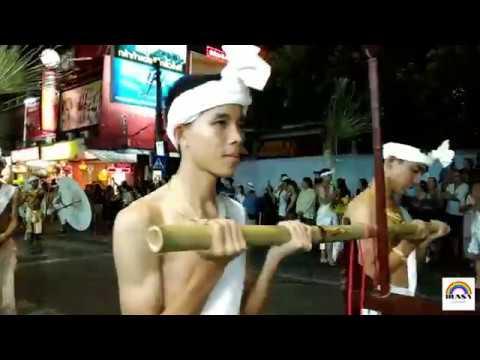 Cute boy sexy guy Thai lanna in fullmoon fantastic night parade Loykrathong in Chiangmai Thailand