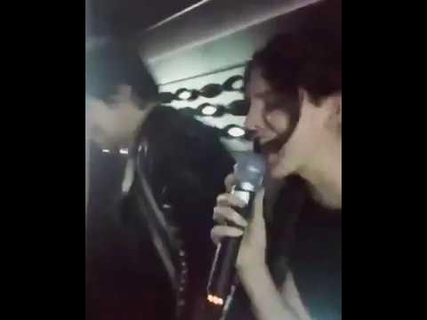 Lana Del Rey, Alex Turner and Cameron Avery sing Elton John's song at karaoke