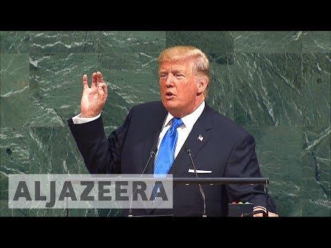 Trump threatens to 'totally destroy' North Korea in UN speech