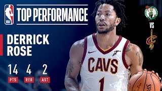 Derrick Rose Impresses In First Game With Cleveland Cavaliers