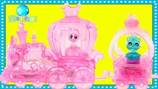 MoonBeams Express Train Light Up Magical Sofia Car & Crystal Carriage Toy Playsets by DCTC