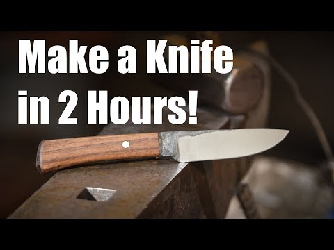 Knife Making Challenge:  Make a REAL Knife in 2 Hours?